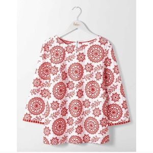 Boden Clara Broderie Anglaise Eyelet Embroider Top